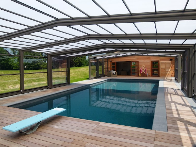 Aerys trio abri de piscine haut t lescopique ec 39 creation for Abri piscine haut