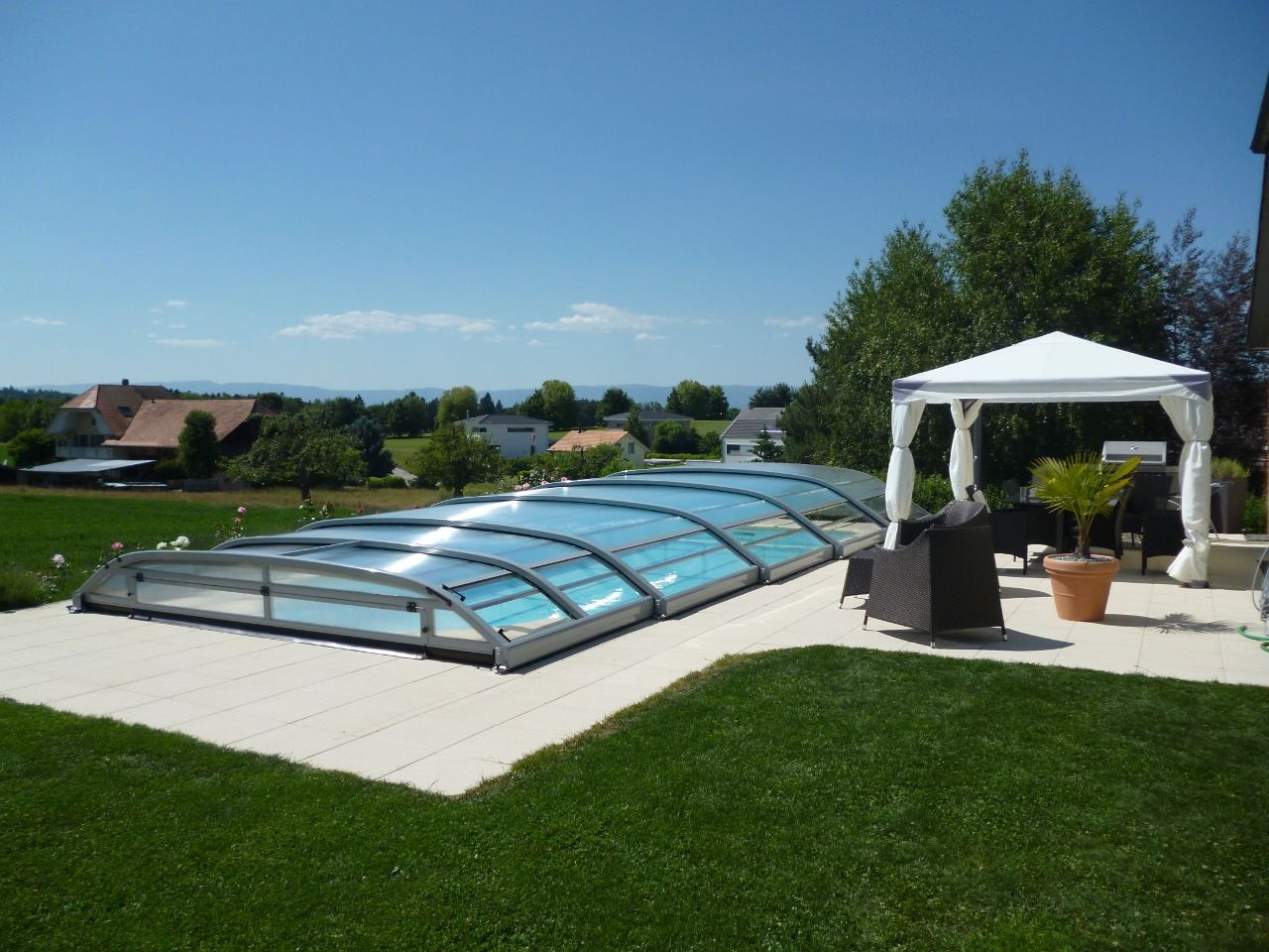 Elitys ansea abri de piscine bas t lescopique ec 39 creation - Abri piscine desjoyaux vitry sur seine ...