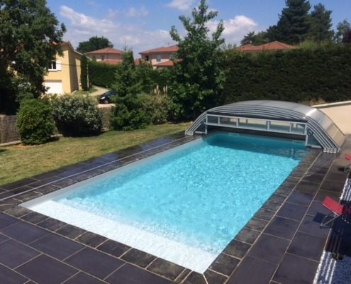 Abris de piscine ec 39 creation bas haut t lescopique spa for Dome piscine