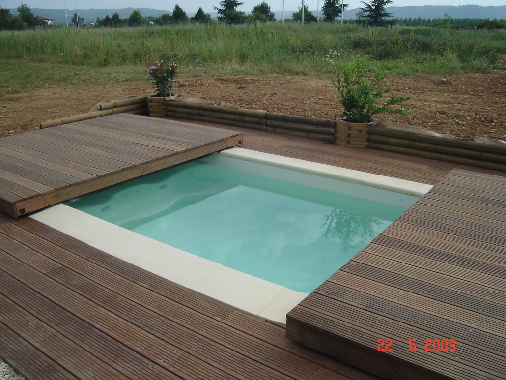 Stilys terrasse mobile plancher coulissant pour piscine - Photo terrasse piscine ...
