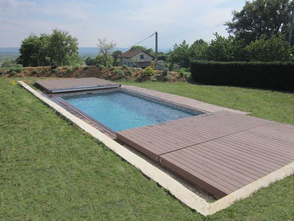 Stilys terrasse mobile plancher coulissant pour piscine for Piscine couverture mobile