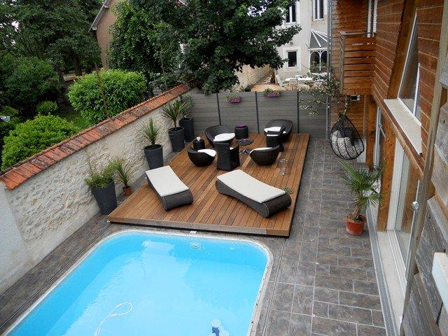 Stilys terrasse mobile plancher coulissant pour piscine for Amenagement terrasse avec piscine