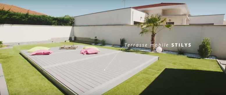 Vid o terrasse mobile stilys ec 39 creation for Portable piscine assurance